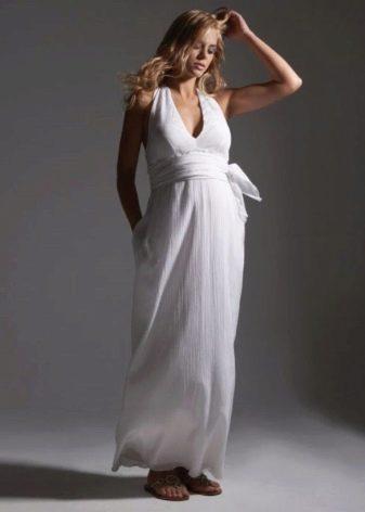 Свадебное платье для беременных из шифона