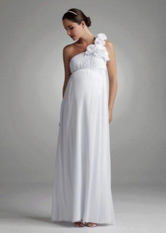 Свадебное платье в стиле ампир для беременных