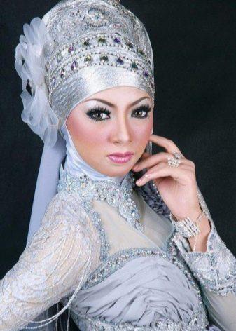 Мусульманский свадебный хиджаб