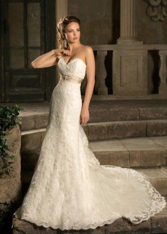 Кружевное свадебное платье от Наталья Романова