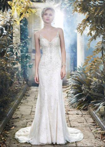 Свадебное пляжное платье на брителях