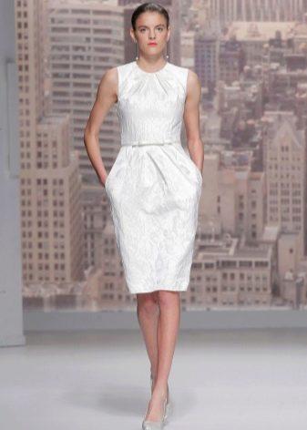 Свадебное платье прямое  миди