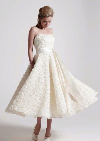 Свадебное платье в стиле New Look миди