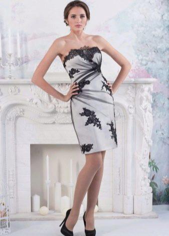 Короткое свадебное вечернее платье