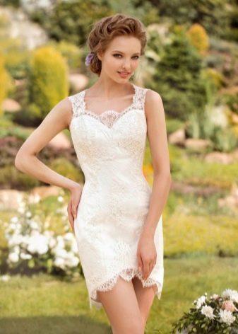 Свадебное платье -трасформер от Папилио короткое