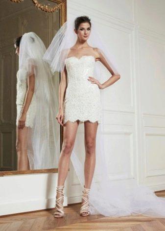 Свадебное платье-трансформер с накладной юбкой