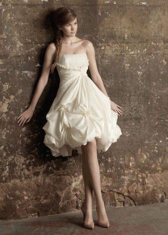 Свадебное платье пышное трансформер с драпировкой