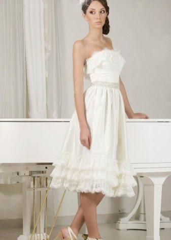 Свадебное платье-трансформер с рюшами