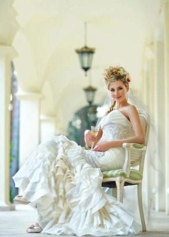 Свадебное платье-трансформер длинное