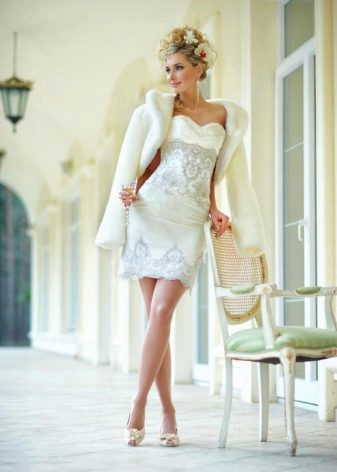 Свадебное платье-трансформер короткое