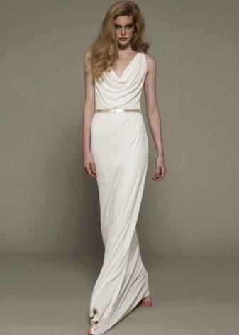 Свадебное платье в греческом стиле со свободным верхом