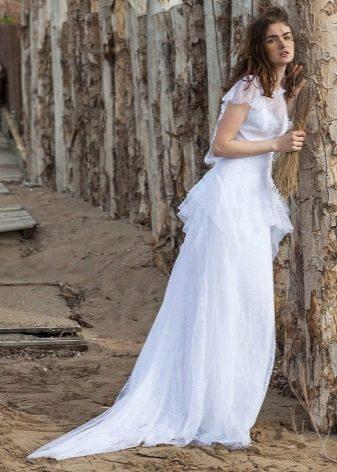 Свадебное шифоновое платье в стиле рустик