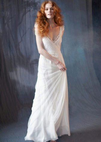 Простое свадебное рустикальное платье от Bohemian Bride