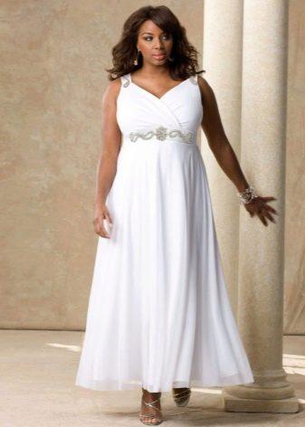 Свадебное платье в стиле ампир для полных