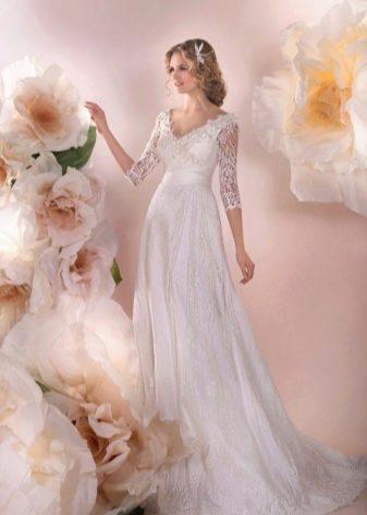 Свадебное платье от Стрекоза с кружевом