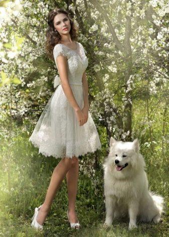 Свадебное платье от Стрекоза короткое