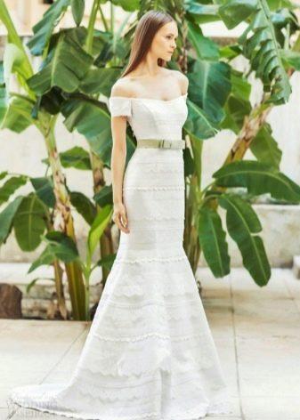 Свадебное платье от Christos Costarellos  на бретелях