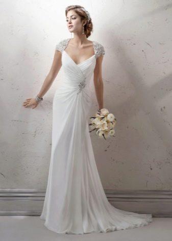 Свадебное платье с закрытыми плечами русалка
