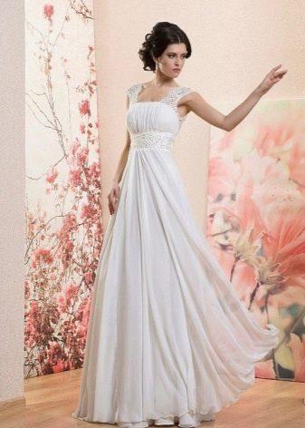 Свадебное платье в стиле амипр на бретелях