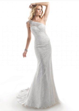 Свадебное платье ампир на одно плечо