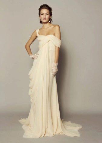 Свадебное платье слоновой кости в стиле ампир