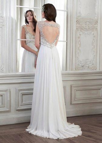 Свадебное платье в стиле ампир сзади