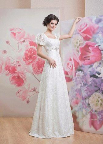 Свадебное платье закрытое ампир