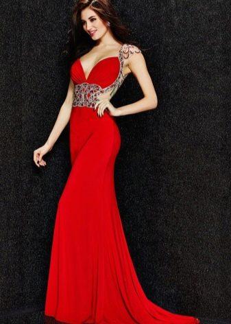 Вечернее платье от Angela & Alison красное