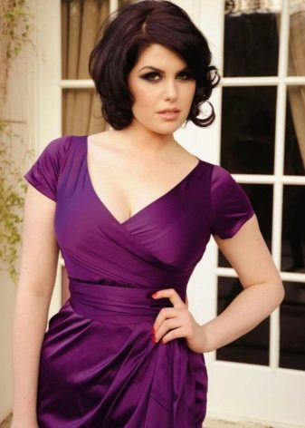 Макияж для фиолетового платья