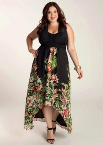 Вечернее летнее платье для короткое спереди длинное сзади