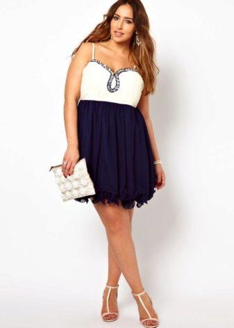 Клубное платье для полных