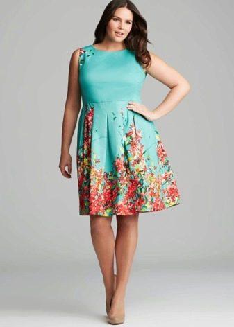 Платье мятное летнее вечернее