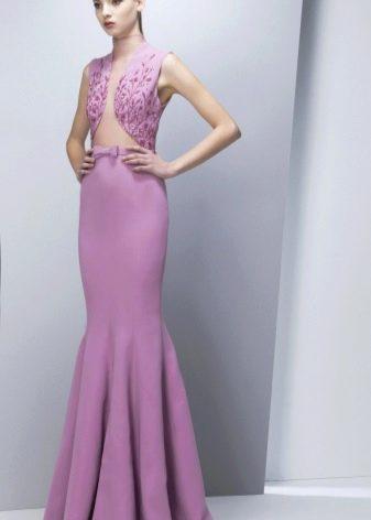 Сиреневое вечернее платье русалка