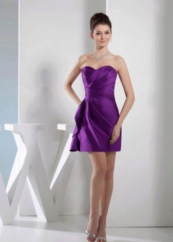 Сиреневое вечернее платье футляр