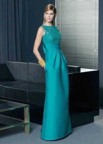 Вечернее бирюзовое платье прямое от Rosa Clarа