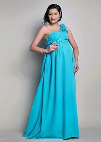 Платье для беременных вечернее на одно поечо