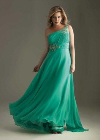 Вечернее платье из шифона для полных