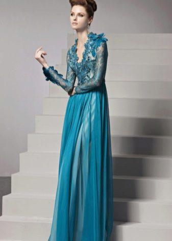 вечернее платье ажурное с вырезом