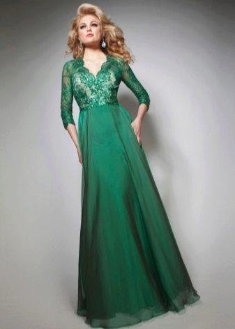 Летнее вечернее платье из шифона
