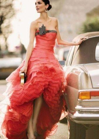 Красное вечернее платье от Армани