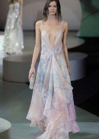 вечернее платье от Армани прозрачное
