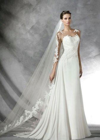 Свадебное платье с кружевным корсетом от Проновиас