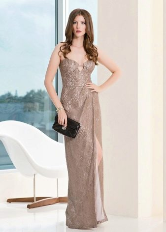вечернее платье футляр в пол не дорогое