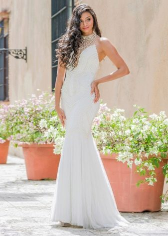 Вечернее белое платье в пол недорогое