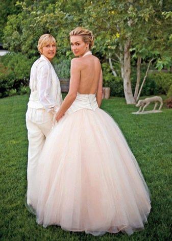 Свадебное платье с открытой спиной Портиа де Росси