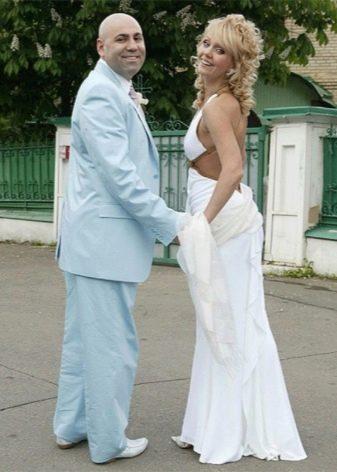Свадебное платье Валерии в греческом стиле