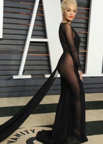 Вечернее откровенное платье Риты Оры