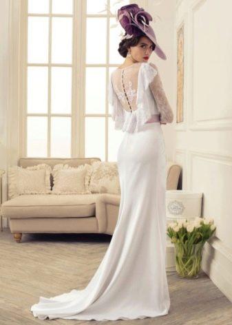 Свадебное платье с открытой ажурной спиной из коллекции Утомленные роскошью Татьяны Каплун
