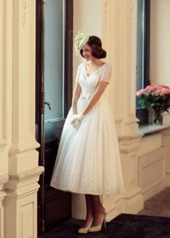 Свадебное платье миди из коллекции Jazz Sounds Татьяны Каплун
