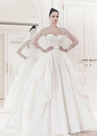 Свадебное платье в стиле принцесса от Зухаира Мурада 2014